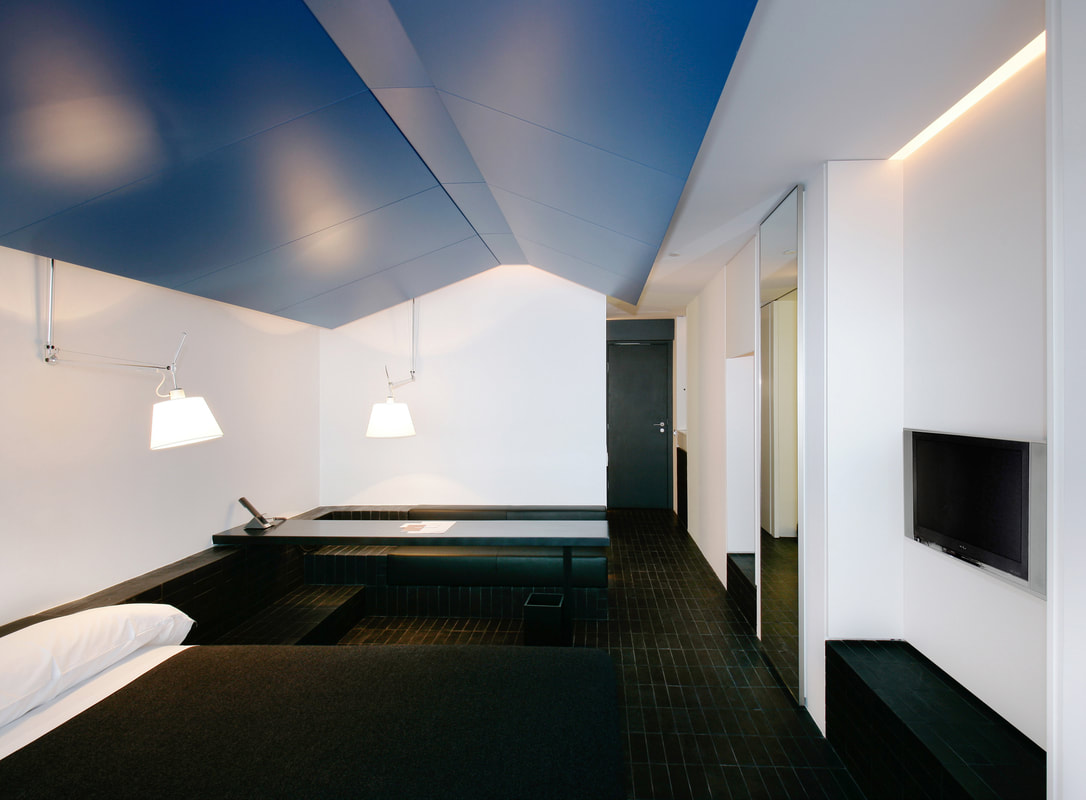 Room at Puerta America Hotel, Madrid, designed by David Chipperfield