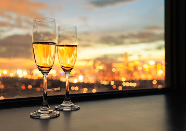 Champagne of the Romantic Package at Hotel Puerta América, Madrid