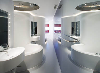 Bathroom at Puerta America Hotel, Madrid