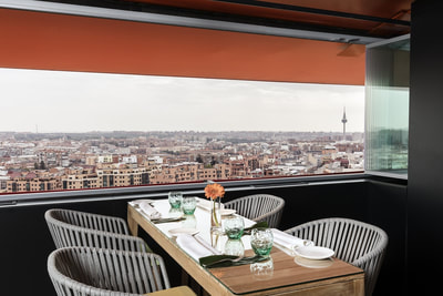 The Observatory Restaurant with Views at Hotel Puerta América, Madrid